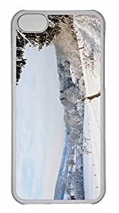 iPhone 5C Case, Personalized Custom Winter Country Landscape for iPhone 5C PC Clear Case