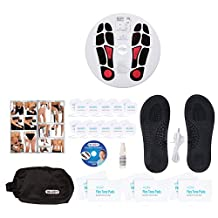 DR-HO'S Circulation Promoter TENS Machine and EMS - Improves Circulation, Reduces Swelling, and Alleviates Feet and Leg Pain - Deluxe Package (Includes DR-HO'S Pain Therapy System and More)