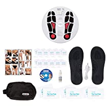 DR-HOS Circulation Promoter TENS Machine and EMS - Improves Circulation, Reduces Swelling, and Alleviates Feet and Leg Pain - Deluxe Package (Includes DR-HOS Pain Therapy System and More)