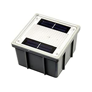 Ledtcx Solar Powered 2-LED Yellow Outdoor Garden Pathway Recessed Brick Light