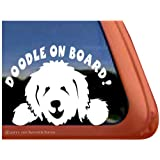 Doodle On Board Vinyl Window Dog Decal Sticker