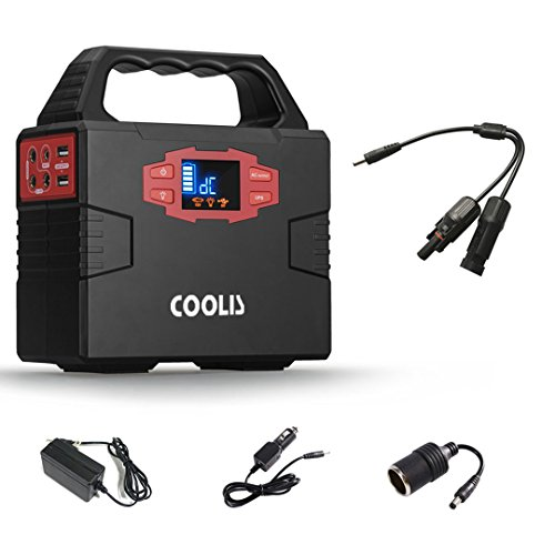 Coolis 150Wh Portable Power Inverter Generator Power Station, Power Supply Source with Silent 110V AC / 12V DC / 5V USB Output, 40800mAh Lithium Battery (Ac Switched Outlet)