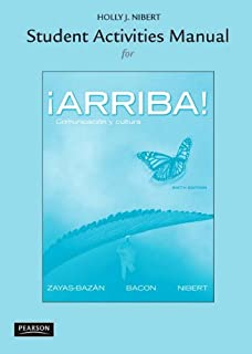 Amazon answer key for the student activities manual for arriba student activities manual for arriba comunicacin y cultura 6th edition fandeluxe Images