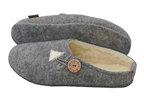 en BeComfy à boîte feutre en Pantoufles féminin en Semelle en 42 chaussons laine femmes caoutchouc 38 feutre semelle cadeau naturelle les chaudes feutre pour 36 laine Semelles wrrqE