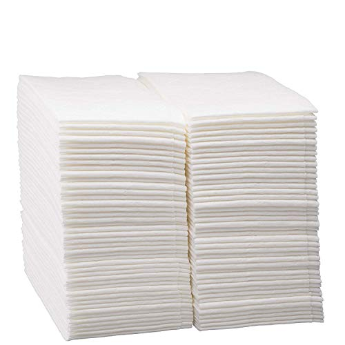 - Disposable Dinner Napkins Linen Feel Paper ~ Cloth-Like Guest Hand Towels ~ White Napkin ~ Pack Of 200 ~ Super Soft and Highly Absorbent Cloth-Like Tissue ~ For Bathroom, Kitchen, Parties, Shops