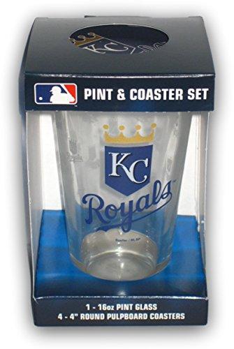 Kansas City Royals Pint Glass and Coaster -