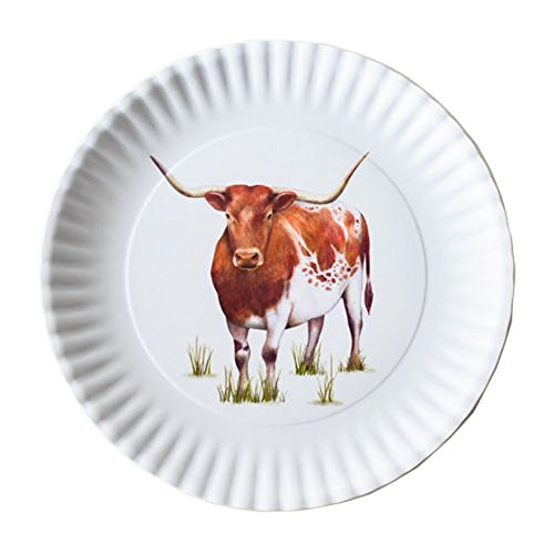 (Longhorn Melamine Platter 16