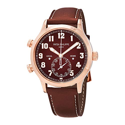 - Patek Philippe Calatrava Pilot Travel Time 18kt Rose Gold Automatic Men's Watch 5524R-001