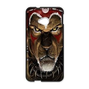 HTC One M7 Cell Phone Case Black Lion Warrior Sendh