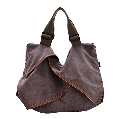 Aimmer Castle Unisex Canvas Sling Bag Fashion Travel Big Capacity Handbags Purple Acg014