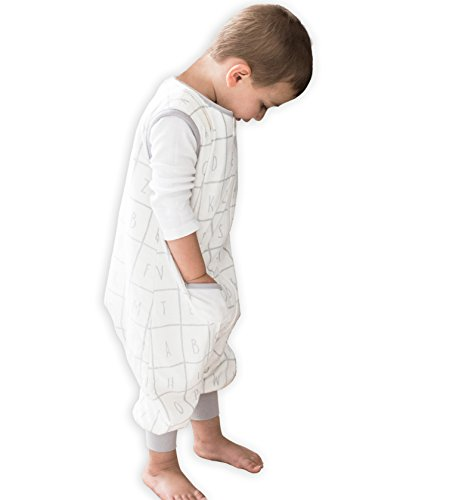 TEALBEE DREAMSUIT: Toddler and Early Walker Baby Wearable Blanket - 1.2 TOG Sleeping Sack with Legs keeps Toddlers & Babies Warm during Sleep from Summer to Winter - Softest Sleepsuit (2t-3t, X-Large)