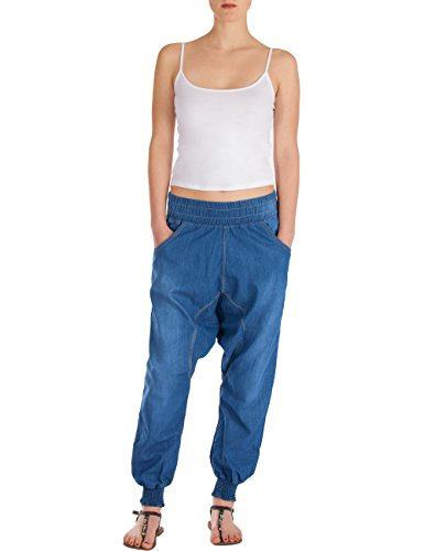 Azul Fraternel mujer Pantalones vaqueros sarouel harén x66Xr4nwC