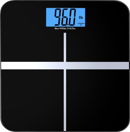 BalanceFrom C400BLK High Accuracy Premium Digital Bathroom Scale with 3.6