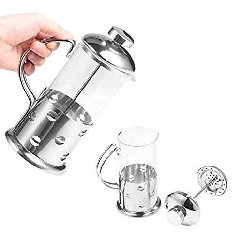 Taza de cafe Vidrio de acero inoxidable Prensa francesa Taza de cafe Tetera Cafetera Filtro Herramienta de cocina 350 ml