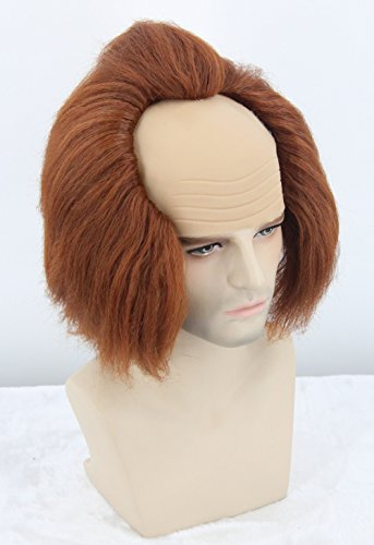 Topcosplay Halloween Costume Wigs Brown Bald Head Wig Adult or Teens