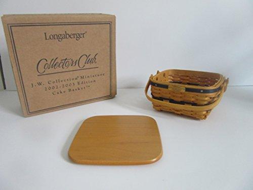 Longaberger Collectors Club JW Miniature Cake Basket