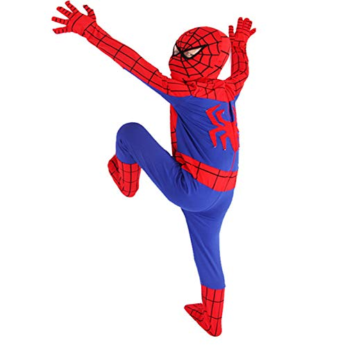 DSFGHE Halloween Costume Children's Holiday Performance Costumes Extraordinary Spiderman Costumes One-Piece Tight-Fitting Clothes Anime -