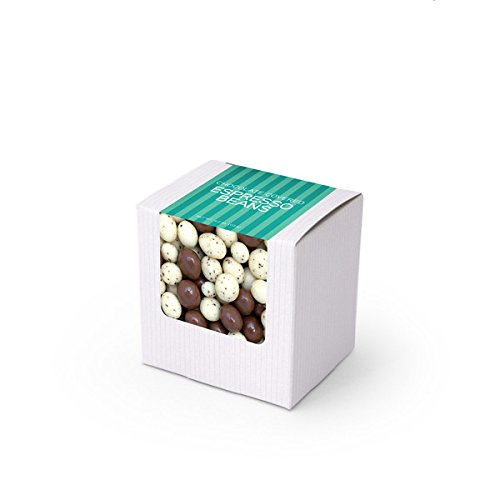 Chocolate Covered Espresso Bean Mix, 3'' White Box 48ct/3.5oz by In-Room Plus, Inc.