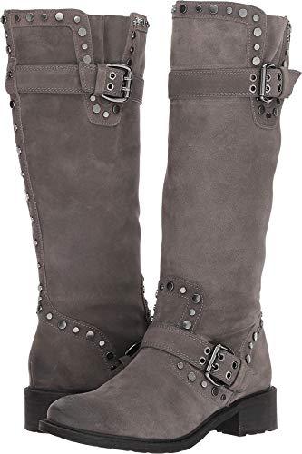 Sam Edelman Women's Deryn Knee High Boot, Steel Grey Suede, 8 M US