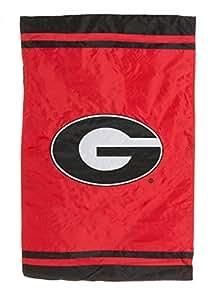 NCAA Georgia Bulldogs bandera Cable de fibra–rojo/negro