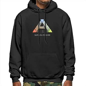 Muindancer ARK Survival Evolved Logo Men's Adult Pullover Hooded Sweatshirt with Pocket-M