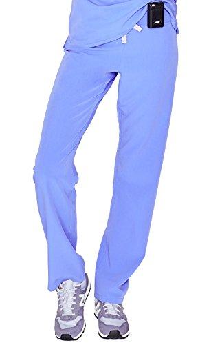 FIGS Medical Scrubs Women's Livingston Basic Scrub Pants (Ceil Blue, S)