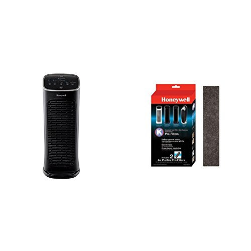 Honeywell Compact AirGenius 4 Air Cleaner/Odor Reducer with Inc AirGenius Pre-Filter K 2pk