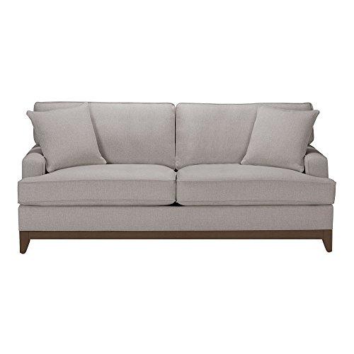 Ethan Allen Arcata Sofa, 81″ Sofa, Hailey Slate Textured Fabric For Sale