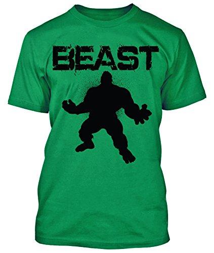 Beast Shirt Work out Gym Wear (Green, XL)