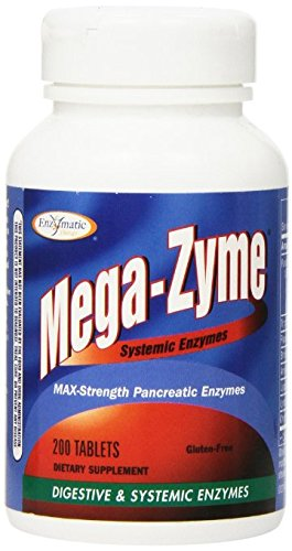 Enzymatic Therapy Mega-zyme, 200 Tablets Pack of 4