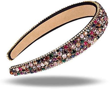Xrten Dames haarband met strass modieuze elastische kristallen haarband voor bruiloft feest