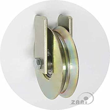 ZAB de S metal ruedas para puertas con almacenamiento en ángulo de hierro con fijación Ø 58 - Ø 117: Amazon.es: Bricolaje y herramientas