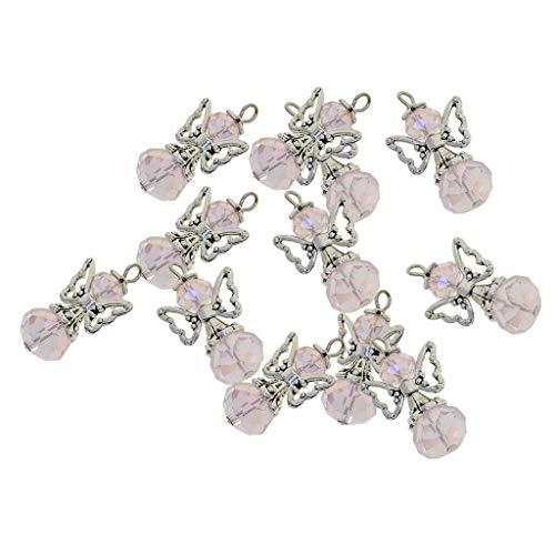 12Pc DIY Charms Glass Beads Dancing Angel Wings Dangle Pendants DIY Earrings (Color - ()