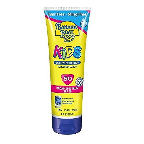Banana Boat Kids Tear Free Sunscreen Lotion SPF 50, 8 Oz