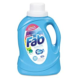 Fab Fab Ultra 2X Liquid Laundry Detergent, Ocean Breeze, 50oz, Bottle - six bottles.