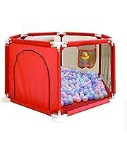 قفص اللعب للاطفال والرضع قابل للطي، مركز للانشطة مثبت على الارض، يوفر حماية وامان للاطفال والرضع اثناء اللعب، خيمة مناسبة لالعاب الزحف، سور قابل للطي، لون احمر