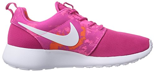 NIKE Women's 316 ROSHERUN Sneakers power 613 pink total 599432 white PRINT orange Shoes firebird Running dradqH4w0