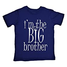 Dirty Fingers, Boy's T-shirt, I'm the BIG Brother, 5-6yrs Navy