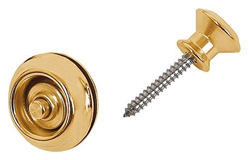 Dunlop Dual Design Straplok System, Brass from JIM DUNLOP