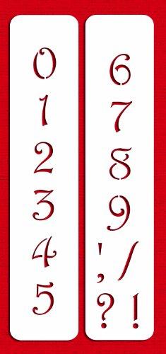 (Designer Stencils C138 1.25 Inch Contemporary Numbers Cake Stencils, Beige/semi-transparent)