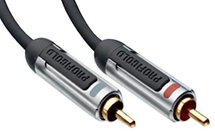 Profigold Stereo Audio Cable 2x RCA Male - 2x RCA Male 1.00 m Anthracite [PROA4201