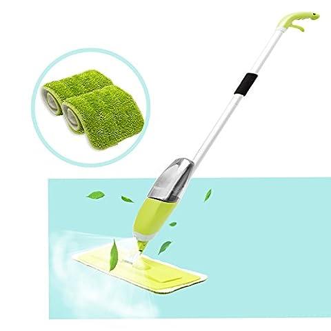 Floor Spray Mop, HOMILY Microfiber Spray Cleaner 360 Degree Professional Handle Mop for Home Kitchen Hardwood, Laminate, Wood, Ceramic Tiles - Microfiber Hardwood Floor Mop