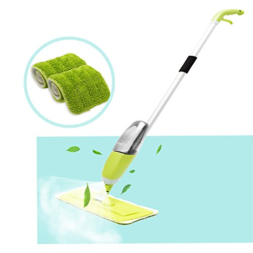 Floor Spray Mop, HOMILY Microfiber Spray Cleaner 360 Degree Professional Handle Mop for Home Kitchen Hardwood, Laminate, Wood, Ceramic Tiles Cleaning