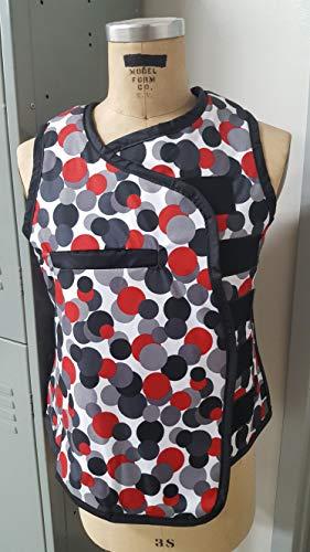 (Vest Guard & Skirt Guard Combo, Regular Lead, X-Ray Apron, 0.5mm Pb Lead Equivalency, Medium, Lots O Dots)