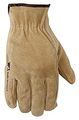 Wells Lamont 1012L Suede Leather Work Glove, Tan