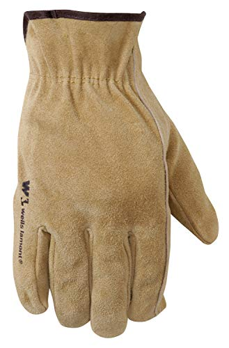 Wells Lamont Leather Work Gloves, Suede Cowhide, Medium (1012M)