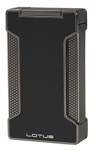 npoint Lighter w/ Cigar Punch - Black & Polished Gunmetal (Out Cigar Punch)