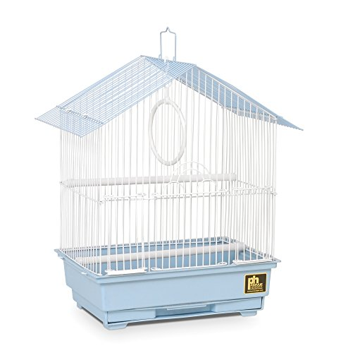 - Prevue Pet Products 31996 House Style Economy Bird Cage, Blue