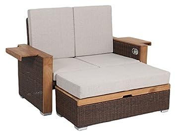 Amazon De Greemotion Rattan Lounge Bahia Lanzarote Sofa Bett Aus