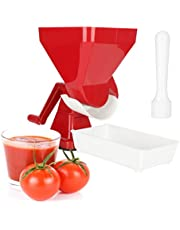 Tomato Strainer, Manual Tomato Press with Press Hammer and Tray, Professional Sauce Maker Food Strainer for Tomato Lemon Orange Vegetables Fruit